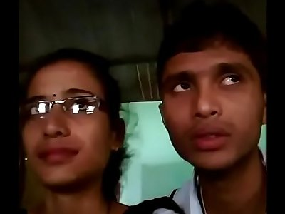 College boy & girl lipkiss in dhaba